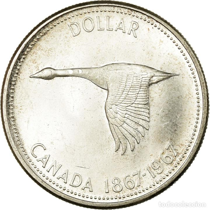 Monedas antiguas de América: Moneda, Canadá, Elizabeth II, Dollar, 1967, Royal Canadian Mint, Ottawa, EBC+ - Foto 2 - 195355117