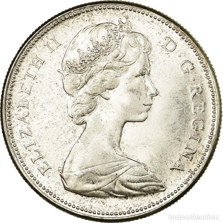 MONEDA, CANADÁ, ELIZABETH II, DOLLAR, 1967, ROYAL CANADIAN MINT, OTTAWA, EBC+ (Numismática - Extranjeras - América)