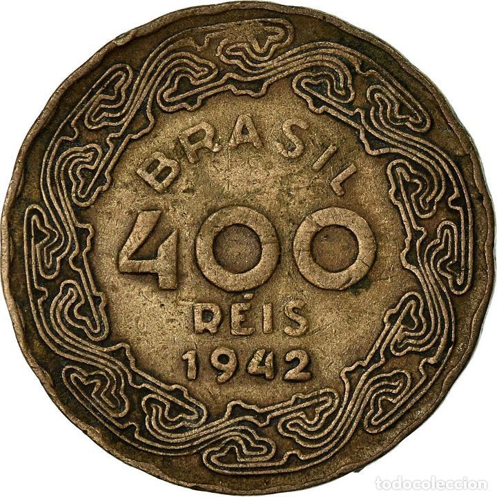 Monedas antiguas de América: Moneda, Brasil, 400 Reis, 1942, MBC, Cobre - níquel, KM:547 - Foto 2 - 195361706