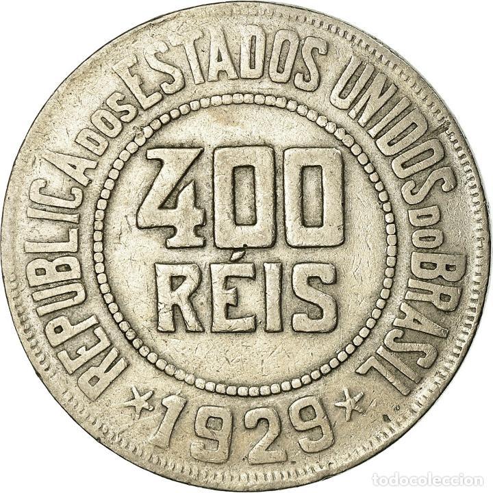 Monedas antiguas de América: Moneda, Brasil, 400 Reis, 1929, BC+, Cobre - níquel, KM:520 - Foto 2 - 195371801