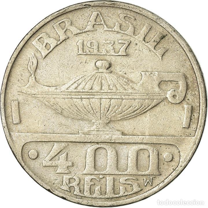 Monedas antiguas de América: Moneda, Brasil, 400 Reis, 1937, MBC, Cobre - níquel, KM:539 - Foto 2 - 195371802