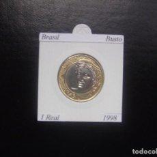 Monnaies anciennes d'Amérique: BRASIL 1998, 1 REAL, BIMETALICA, BUSTO, SC-UNC. Lote 195382405