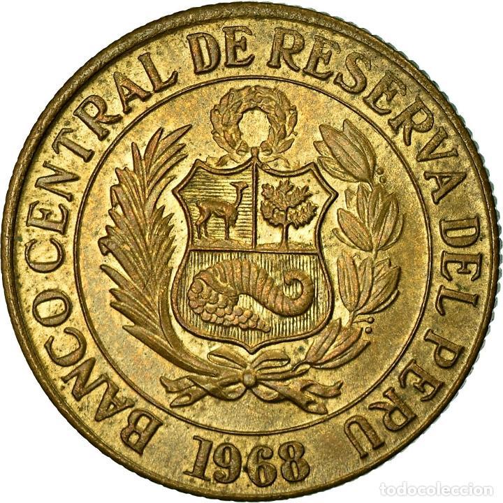 MONEDA, PERÚ, 1/2 SOL, 1968, MBC, LATÓN, KM:247 (Numismática - Extranjeras - América)