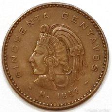 Monedas antiguas de América: MEXICO 50 CENTAVOS 1957. Lote 195436558