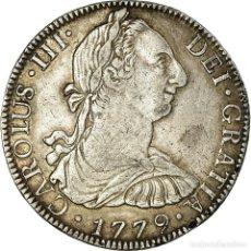 Monedas antiguas de América: MONEDA, MÉXICO, CHARLES III, 8 REALES, 1779, MEXICO, BC+, PLATA, KM:106.2. Lote 195436502