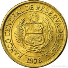 Monedas antiguas de América: MONEDA, PERÚ, SOL, 1978, LIMA, MBC, LATÓN, KM:266.2. Lote 195445867