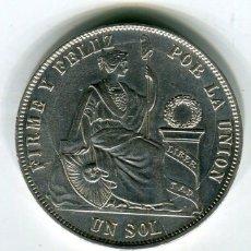 Monedas antiguas de América: PERU UN SOL AÑO 1972 PLATA -SE ENVIA LA MISMA MONEDA DE LAS IMAGENES - . Lote 195459267
