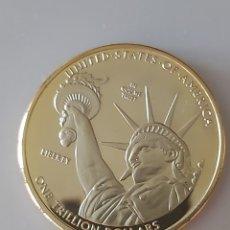 Monedas antiguas de América: EXCLUSIVA MONEDA DE ORO ELECTRO GALVANIZADO EN HOMENAJE A LA ESTATUA DE LA LIBERTAD. Lote 195460722