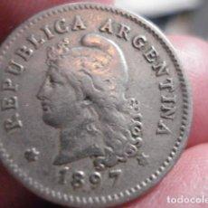 Monedas antiguas de América: MONEDA DE ARGENTINA - 10 CENTAVOS AÑO 1897 - MIRA MAS EN VENTA. Lote 195523066