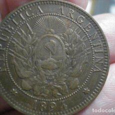 Monedas antiguas de América: BONITA MONEDA DE ARGENTINA - DOS CENTAVOS AÑO 1894 - MIRA MAS EN VENTA. Lote 195523210