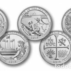 Monedas antiguas de América: USA 2019 5 MONEDAS 1/4 $ P. Lote 238912605