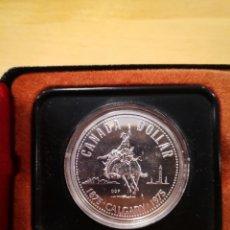 Monedas antiguas de América: DOLAR DE PLATA CANADIENSE CENTENARIO CIUDAD DE CALGARY SIN CIRCULAR. Lote 195853362