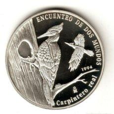 Monedas antiguas de América: CUBA 10 PESOS PLATA 1994 PROOF CARPINTERO REAL - ANIMALES EN PELIGRO - ISLA DEL CARIBE. Lote 295834383