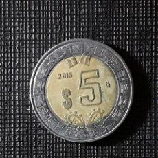 Monedas antiguas de América: MEXICO $ 5 PESOS 2016 KM605. Lote 196397053
