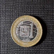 Monedas antiguas de América: VENEZUELA 1 BOLIVAR 2012 Y93. Lote 196941156