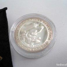 Monedas antiguas de América: SURINAM SURINAME 1992 - 100 GUILDERS KM# 40 - PLATA PROOF - BALONCESTO - SIN CIRCULAR. Lote 196944586