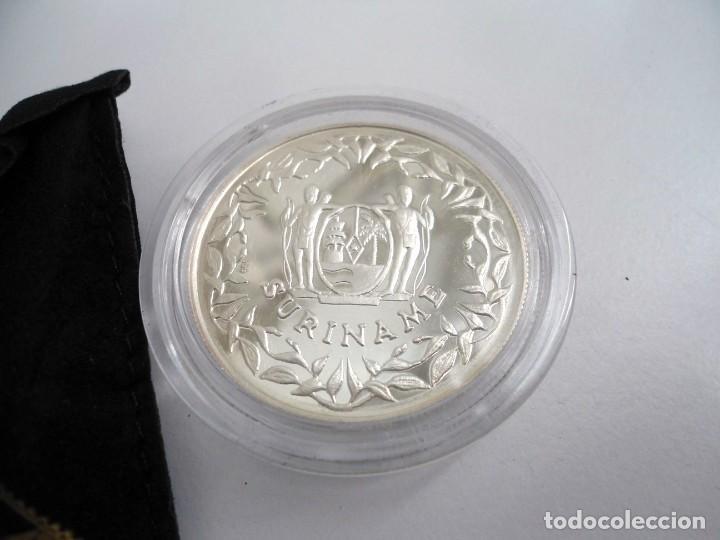 Monedas antiguas de América: SURINAM SURINAME 1992 - 100 GUILDERS KM# 40 - PLATA PROOF - BALONCESTO - SIN CIRCULAR - Foto 2 - 196944586