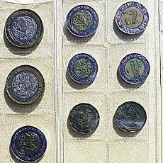 Monedas antiguas de América: LOTE DE 13 MONEDAS DE LOS ESTADOS UNIDOS MEXICANOS. Lote 197882387