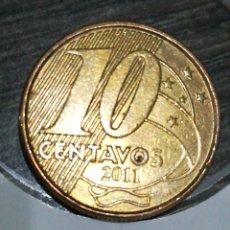 Monedas antiguas de América: BRASIL 10 CENTAVOS 2011. Lote 198055448