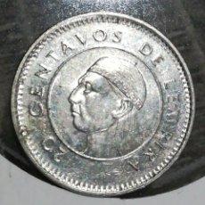 Monedas antiguas de América: HONDURAS 20 CENTAVOS 1999. Lote 198058963