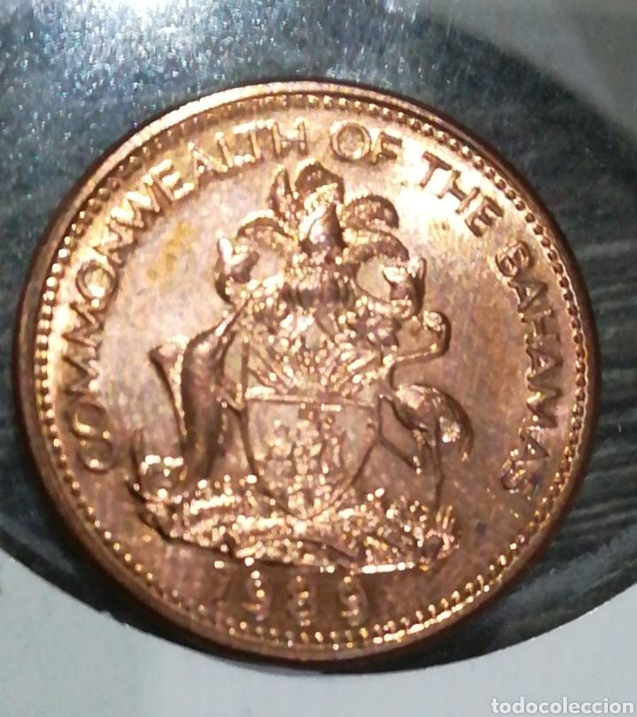 Monedas antiguas de América: Bahamas 1 céntimo 1989 - Foto 2 - 198059257