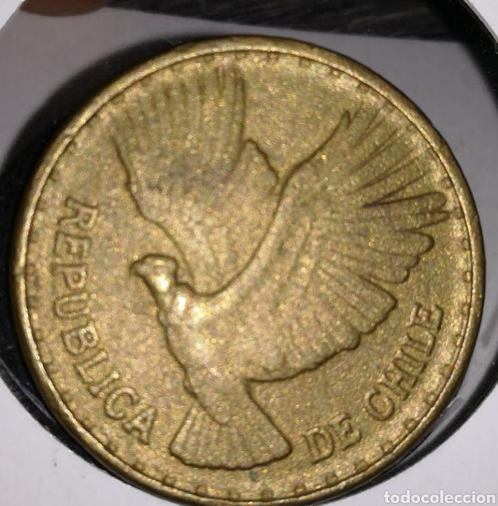Monedas antiguas de América: Chile 10 centésimos 1970 - Foto 2 - 198059892