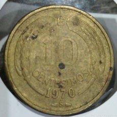 Monedas antiguas de América: CHILE 10 CENTÉSIMOS 1970. Lote 198059892