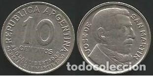 ARGENTINA 1970 - 10 CENTAVOS - KM 44 - CIRCULADA (Numismática - Extranjeras - América)