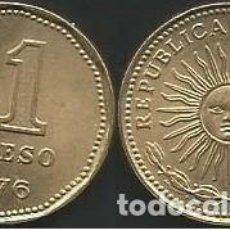 Monedas antiguas de América: ARGENTINA 1976 - 1 PESO - KM 69 - CIRCULADA. Lote 198069086