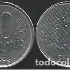 Monedas antiguas de América: BRASIL 1994 - 10 CENTAVOS - KM 633 - CIRCULADA. Lote 198070570