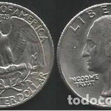 Monedas antiguas de América: E.E.U.U. 1967 - 25 CENTS (QUARTER) - KM 164A - CIRCULADA. Lote 198092698