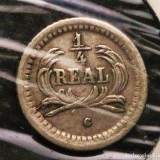 Monedas antiguas de América: GUATEMALA MONEDA DE PLATA 1/4 REAL UN CUARTO , CUARTILLO DE 1878 , ¡¡¡LIQUIDACION COLECCION !!. Lote 198109495