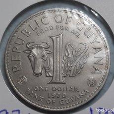 Monedas antiguas de América: 1 DOLAR DE GUYANA 1970 GRANDE DIMENSIONES. Lote 198148043