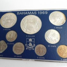 Monedas antiguas de América: BAHAMAS - SET COMPLETO AÑO 1969 RARO - SIN CIRCULAR. Lote 198493458