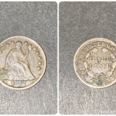 Monedas antiguas de América: MONEDA. EEUU. HALF DIME. 1857. VER FOTOS. Lote 198991761