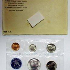 Monedas antiguas de América: ESTADOS UNIDOS, 1965. SET OFICIAL DE MONEDAS. TREASURY DEPARTMENT. FDC. LOTE 2530. Lote 199653287