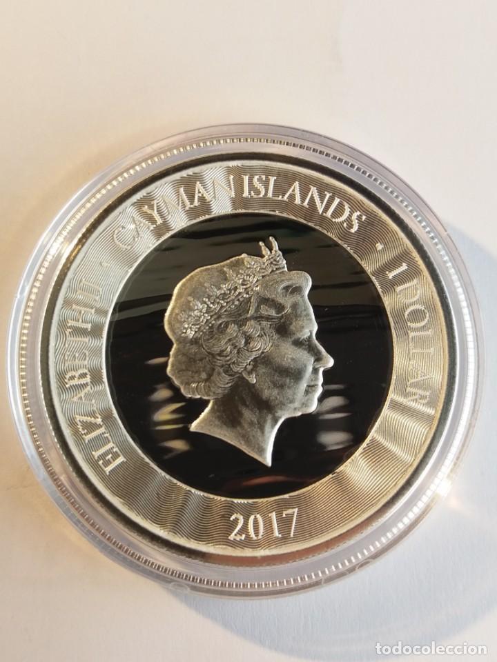 Monedas antiguas de América: Islas Caiman - Cayman Islands - Marlin 2017 - 1 onza de plata - Foto 2 - 200154908