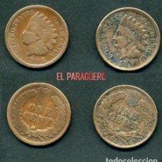 Monedas antiguas de América: ESTADOS UNIDOS 2 MONEDAS DE 1 CENTIMO DE 1895 Y 1896 ( JEFE INDIO ) ORIGINALES Y MUY ESCASAS - Nº44. Lote 200297992