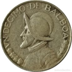 Monedas antiguas de América: PANAMÁ. 1/10 DE BALBOA 1947. (035).. Lote 201115781