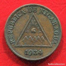 Monedas antiguas de América: NICARAGUA - 1 CENTAVO DE CORDOBA 1934. Lote 201764676