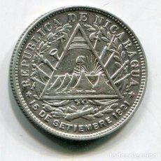 Monedas antiguas de América: NICARAGUA - 20 CENTAVO DE CORDOBA DE PLATA 1887. Lote 201764798