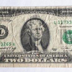 Monete antiche di America: EEUU. BILLETE DE DOS DOLARES. 1976. Lote 202630941