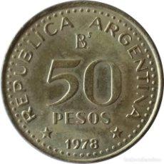 Monedas antiguas de América: ARGENTINA. 50 PESOS DE 1978 (200 ANIVERSARIO DEL NACIMIENTO DE JOSE SAN MARTÍN). (079).. Lote 202773615