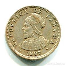 Monedas antiguas de América: PANAMA 1/2 (MEDIO) CENTESIMO DE BALBOA 1907 - MUY BONITO. Lote 202842706