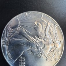 Monedas antiguas de América: ONZA PLATA PURA INVERSION USA EAGLE 1987. Lote 235855505