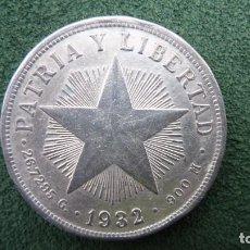 Monedas antiguas de América: PESO DE CUBA DE 1932. PLATA. EBC. WORLD COINS-KM#15.2. Lote 202865980