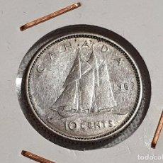 Monedas antiguas de América: CANADÁ - 10 CENTS 1962 - PLATA 500 - MBC. Lote 203974275