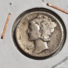 Monedas antiguas de América: USA - 1 ONE DIME 1939 - PLATA 900 - EBC/EF. Lote 204223011