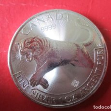 Monedas antiguas de América: CANADA ONZA DE PLATA PURA 2016 SIN CIRCULAR JAGUAR. Lote 204268521