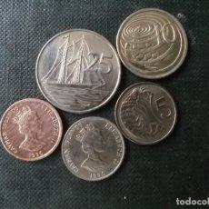 Monedas antiguas de América: CONJUNTO DE MONEDAS DE ISLAS CAYMAN. Lote 204391790